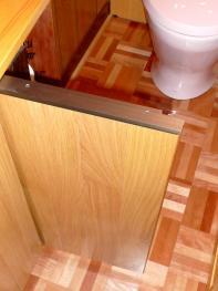手洗いテーブル下収納部扉取っ手