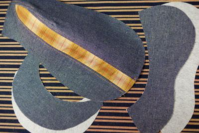 ダイソーの布地だハンチング帽を作る
