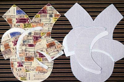 手芸ナカムラの布地で作ったハンチング帽