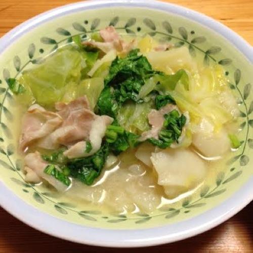 2カブキャベスープ