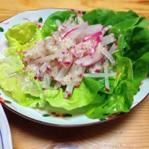 2紅大根のサラダ