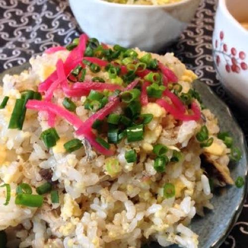 2焼きしめ鯖の混ぜご飯