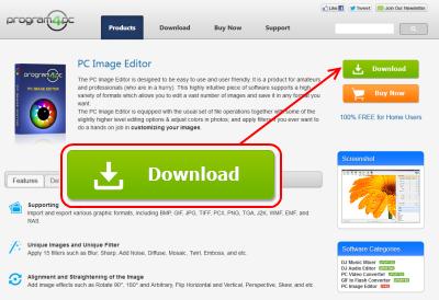PC Image Editor ダウンロードページ
