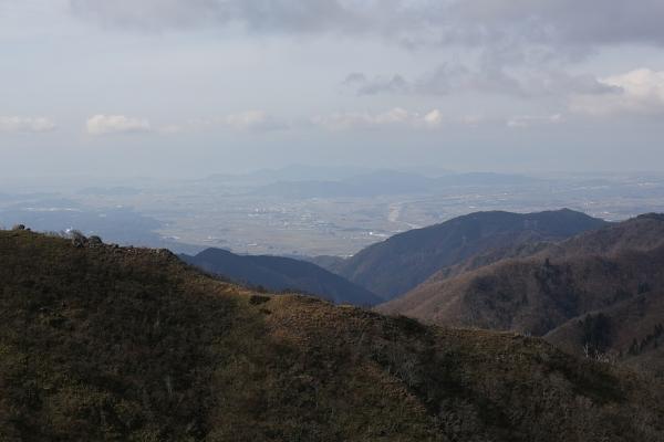琵琶湖方面の眺め。
