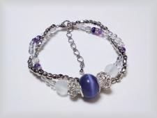 紫ブレスレット