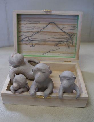 20130603 ladoll monkey familiy in Onsen prototy 12cmpeDSC08748