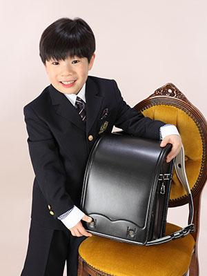 秋田の入学写真 スタジオ撮影 小学入学 コウシくん