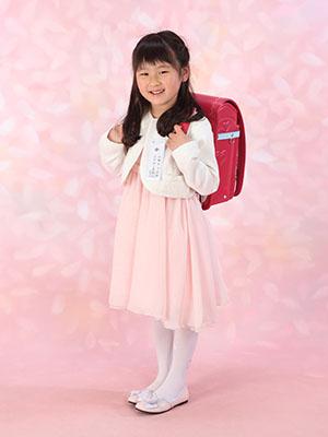 秋田の入学写真 スタジオ撮影 小学入学 コユキちゃん