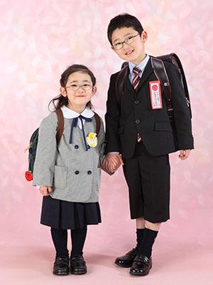 秋田の入園入学写真 スタジオ撮影 入園小学入学 リオ&タイヨウ