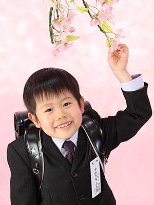 秋田の入学写真 スタジオ撮影 小学入学 フウキくん
