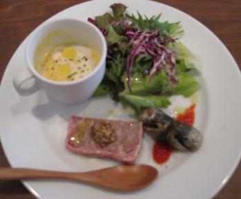 前菜と冷製スープ