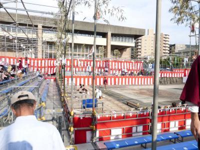長崎くんち 公会堂踊り場 2013 10・10