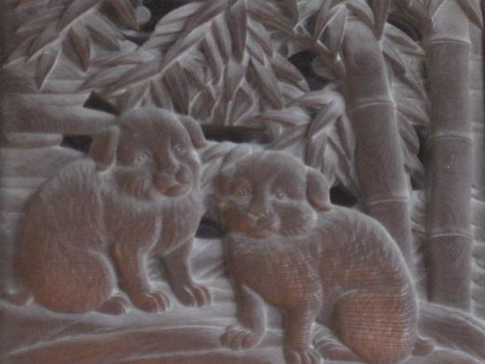 10彫刻 犬 1028