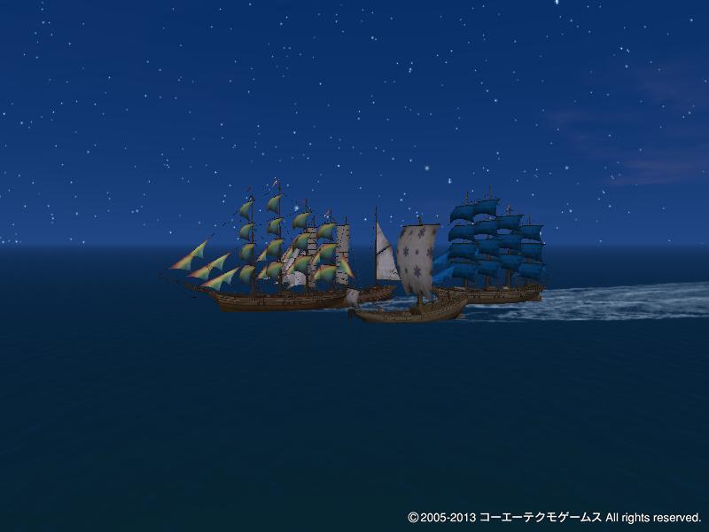 ツアーでの夜の航海