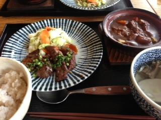 牛タン&ビーフシチュー定食