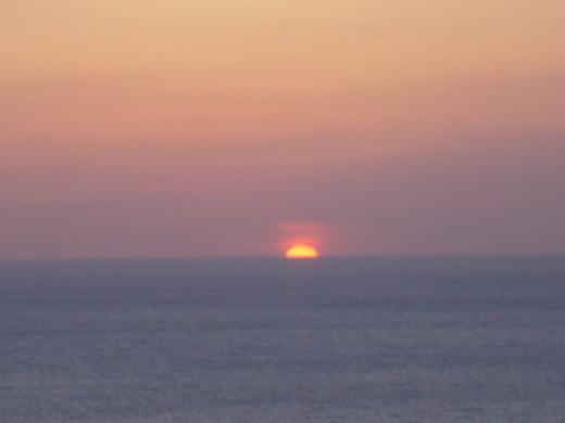 高台からの夕日