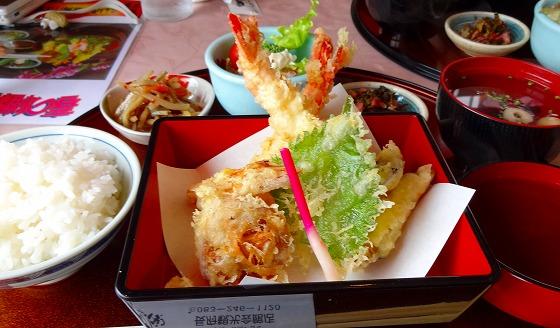 130424長府えび天ぷら定食