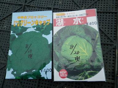 キャベツ&ブロッコリー種袋13_08_24