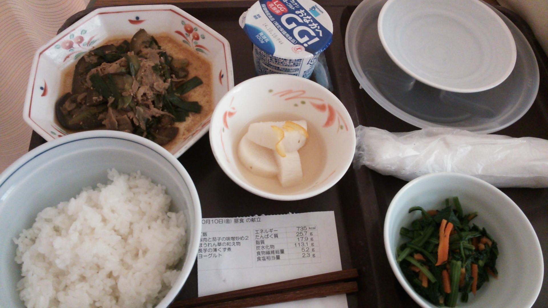 10月10日(金)昼食