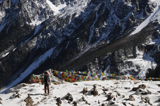 地元のチベタン