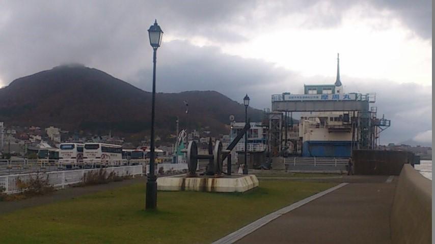 摩周丸と函館山