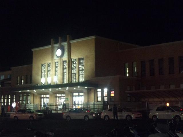 小樽駅の夜