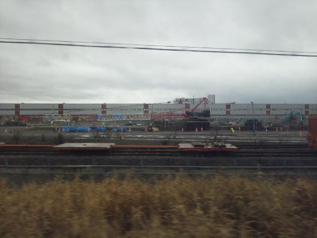建設中の北海道新幹線の操車場
