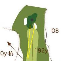 伊達山9番グリーン拡大