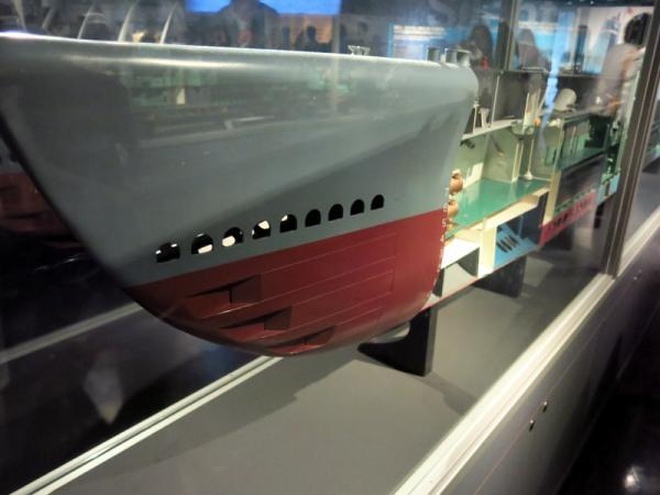 潜水艦模型船首