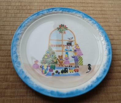 グリクリスマス絵皿