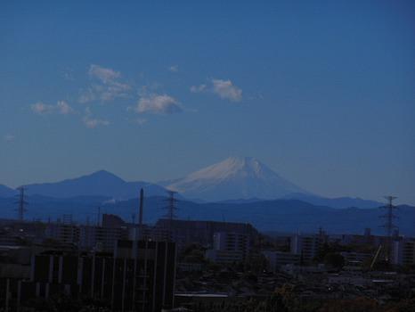 ようやく見えた富士