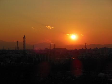 2013年最後の夕陽