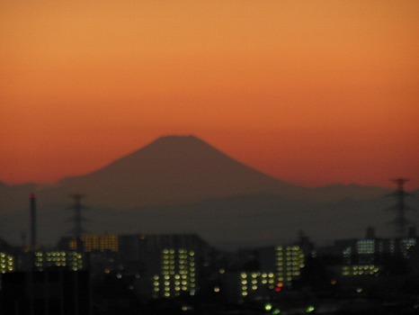 2013年最後の夕焼け