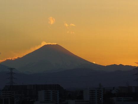 新年夕焼け富士