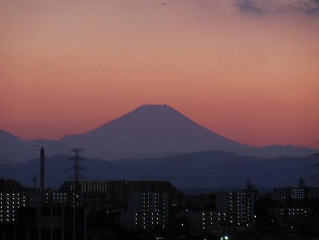 富士の夕暮れ時