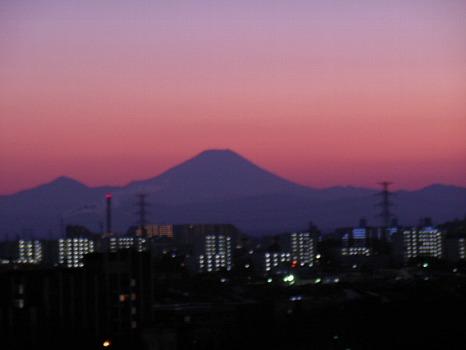 1月29日夕富士