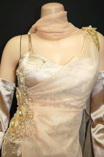 きらきらリボンレース ロングドレス