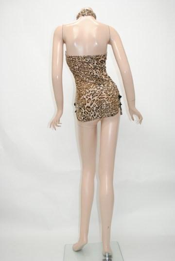 ちょーミニ丈ひょう柄チャイナ ショートドレス