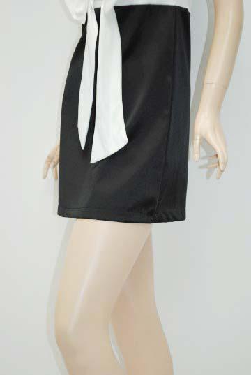 リボンサテン ショートドレス