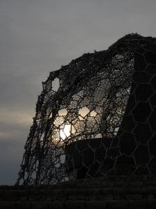 六甲枝垂れ夕景
