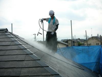 4屋根高圧洗浄