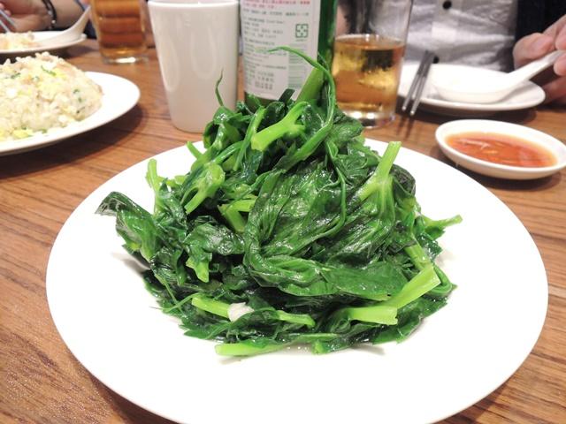 台北夕食4 豆苗
