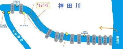 神田川に架かる橋