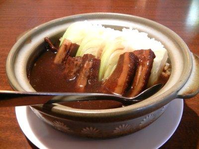 豚角煮土鍋かけご飯
