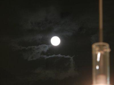 この日は、満月
