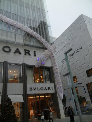 BVLGARIのイルミネーション