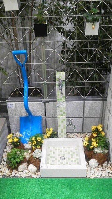 水栓柱とスコップ