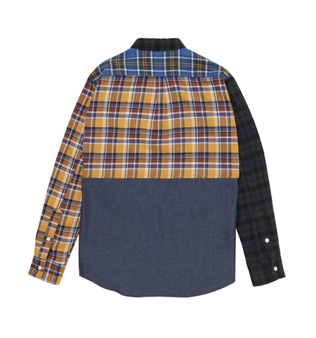 SH23 MLT CHECK COMBI L SHIRTS CHAMBRAY(2)_R