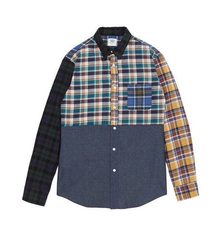 SH23 MLT CHECK COMBI L SHIRTS CHAMBRAY_R
