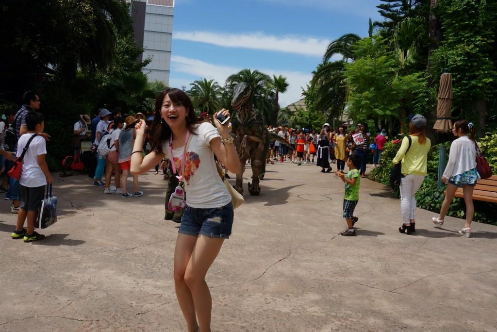 ショートパンツを履いたミス東大2014候補の藤澤季美歌さん